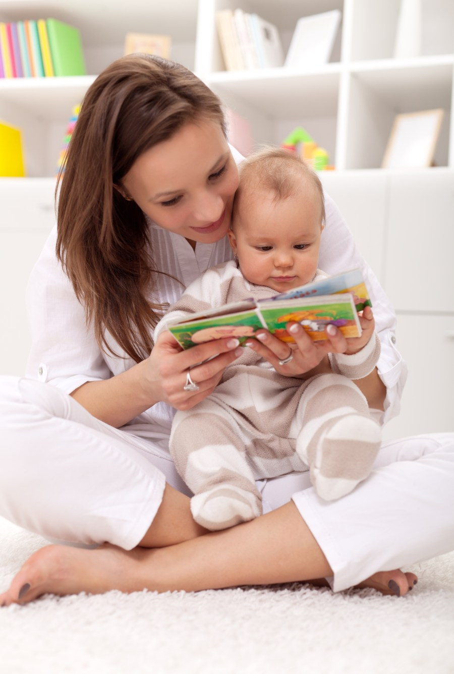 Mum Enjoys Story time As Much As The Baby