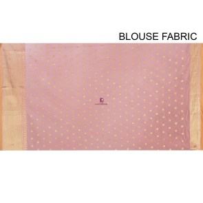 Woven Banarasi Cotton Silk Saree in Peach 8