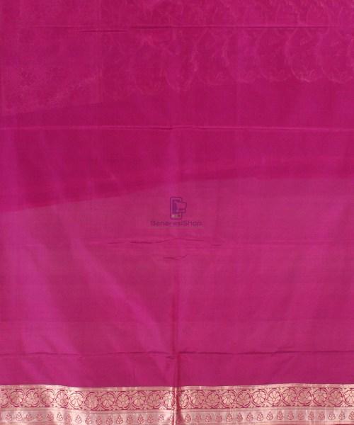 Pure Banarasi Uppada Handloom Silk Saree in Purple 7