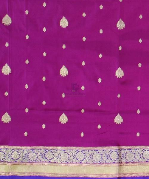 Banarasi Pure Katan Silk Handloom Magenta Saree 4
