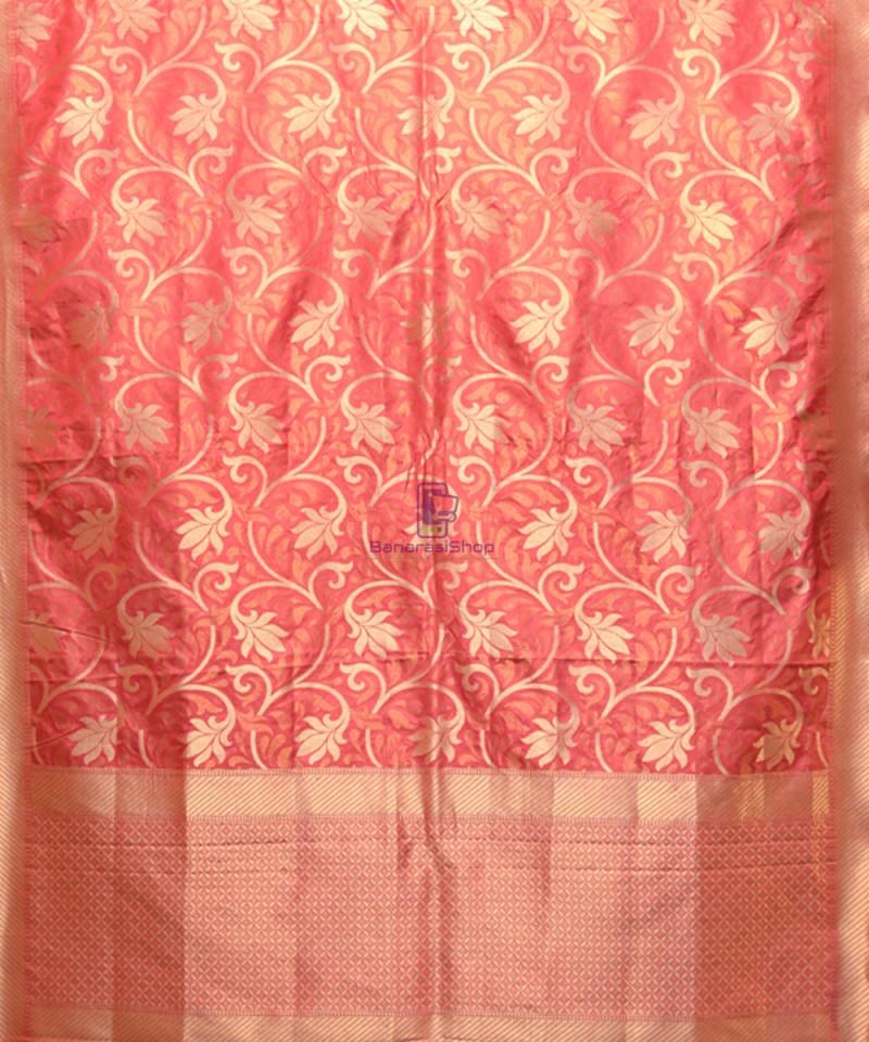 Handwoven Pure Banarasi Uppada Silk Candy Red Saree 1