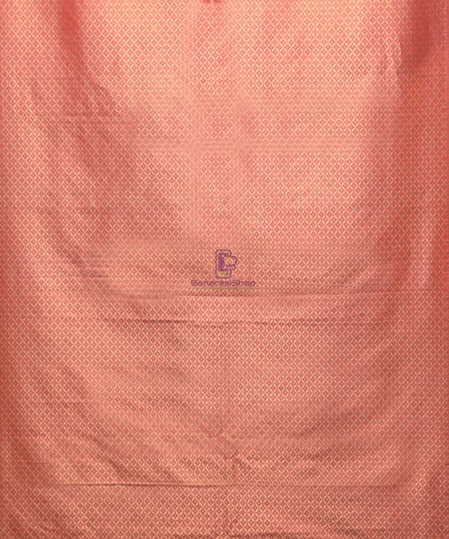 Handwoven Pure Banarasi Uppada Silk Candy Red Saree 7