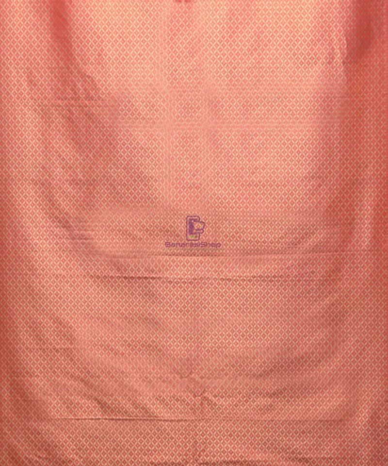 Handwoven Pure Banarasi Uppada Silk Candy Red Saree 4