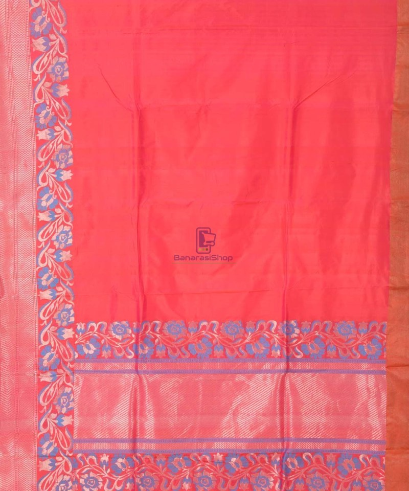 Banarasi Pure Katan Silk Handloom Red Saree 2