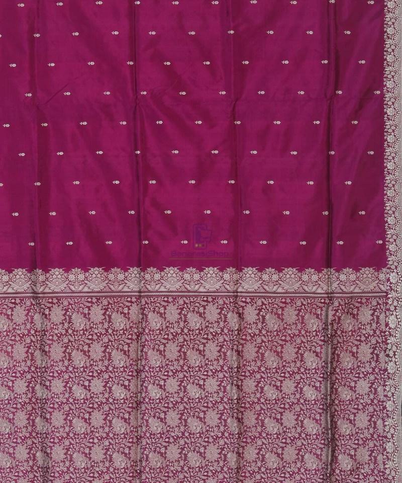 Banarasi Handloom Wine Purple Katan Saree 3