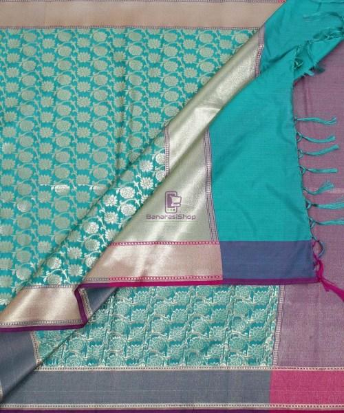 Banarasi Art Silk Green Dupatta 5