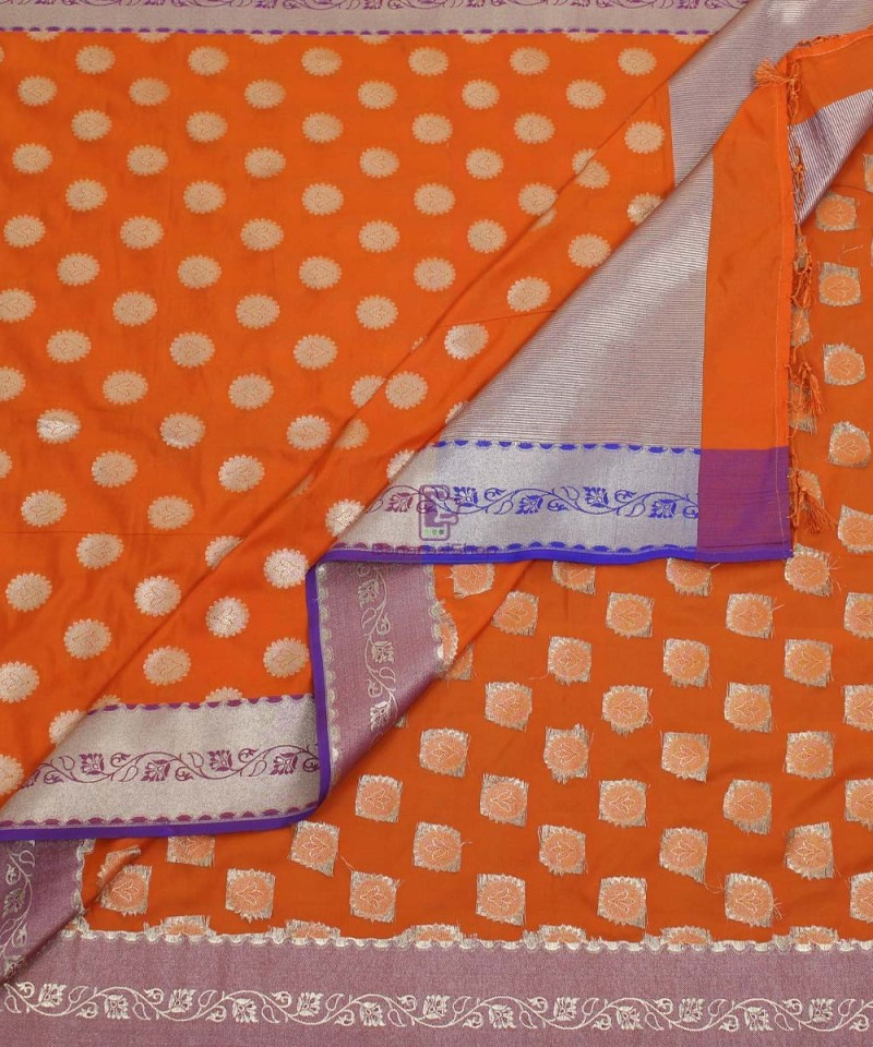 Banarasi Art Silk Orange Dupatta 3