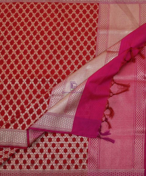 Banarasi Art Silk Red Dupatta 5