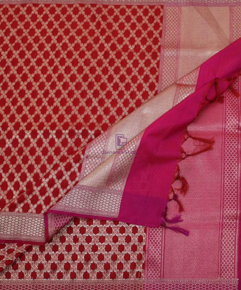 Banarasi Art Silk Red Dupatta 3