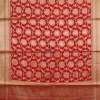 Banarasi Art Silk Antique Gold Zari Buti Dupatta in Red 6