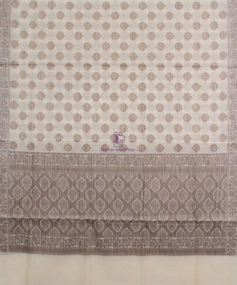 Banarasi Cotton Silk Beige Dupatta 1
