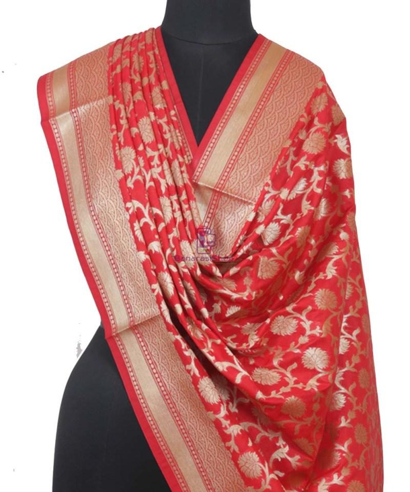 Handloom Banarasi Red Dupatta 1