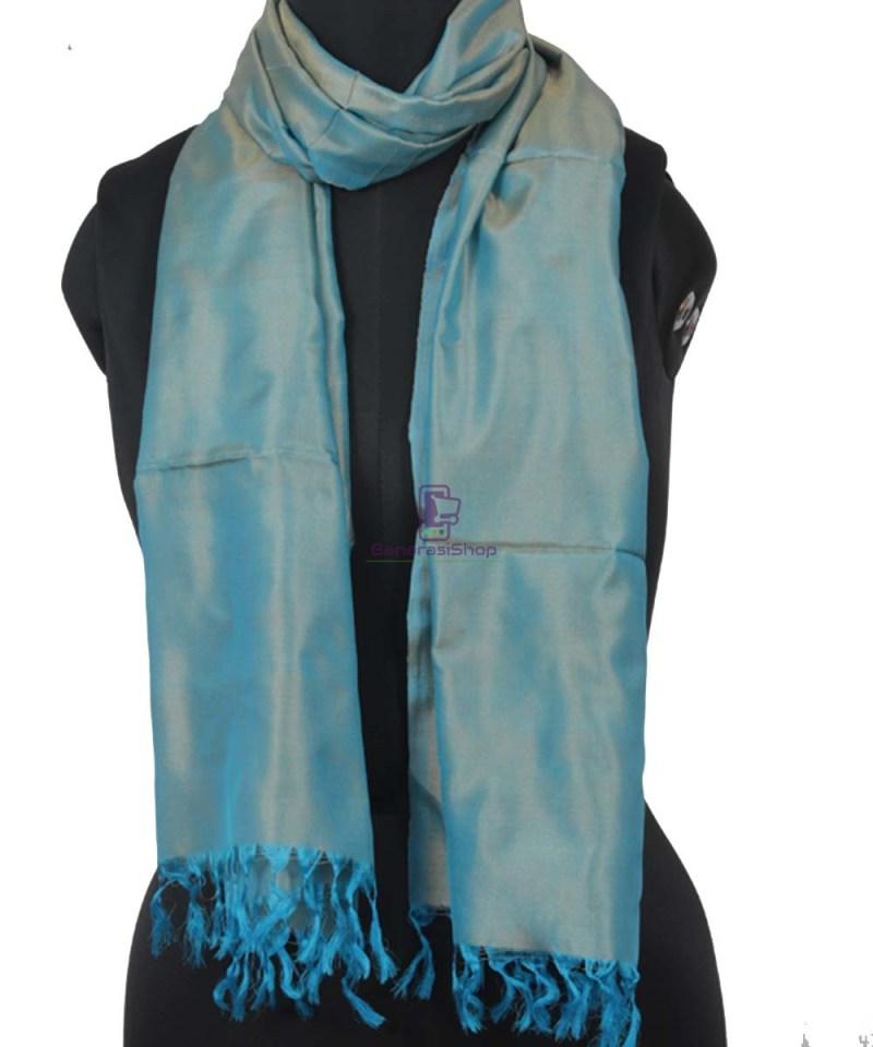 Handloom Banarasi Sapphire Blue Stole 1