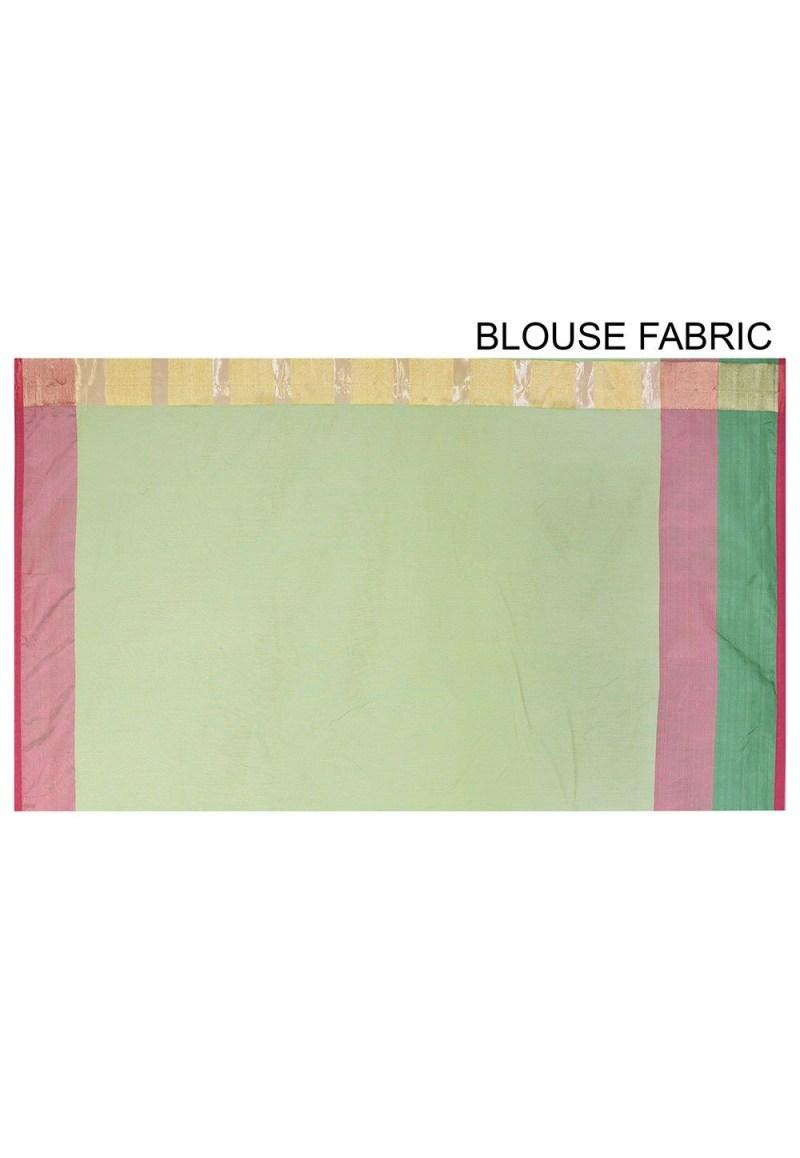 Banarasi Cotton Silk Saree in Light Green 3