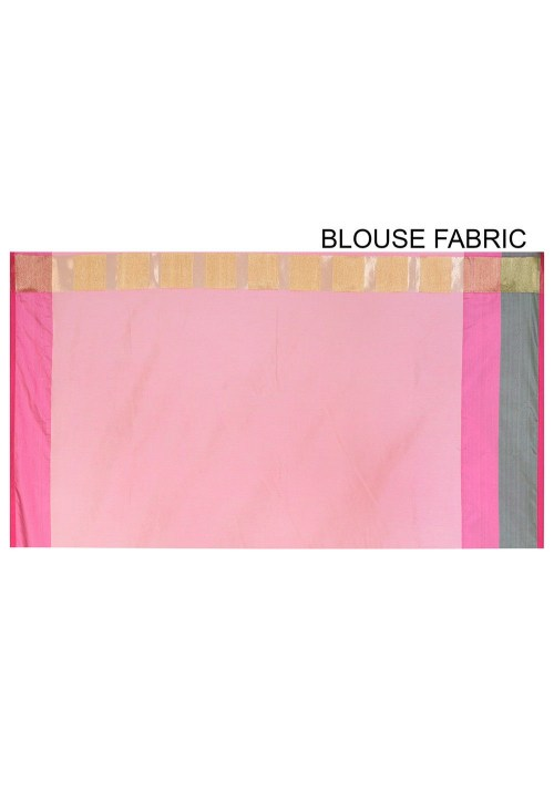 Banarasi Cotton Silk Saree in Peach 6