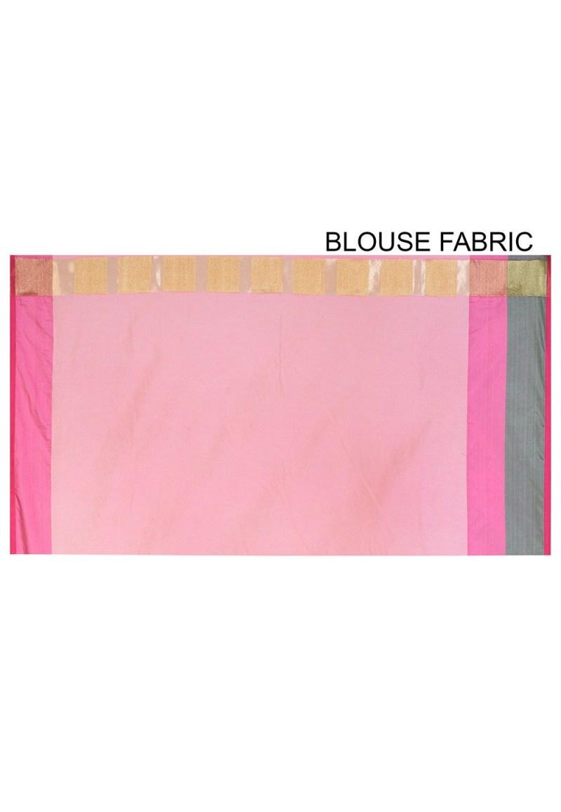 Banarasi Cotton Silk Saree in Peach 3