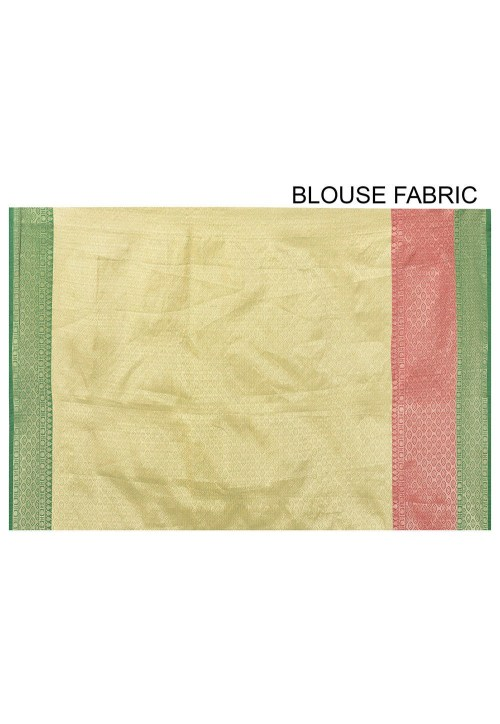 Banarasi Cotton Silk Saree in Fuchsia 6