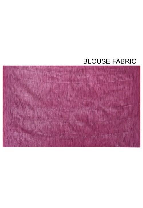 Banarasi Cotton Silk Saree in Light Dusty Blue 6