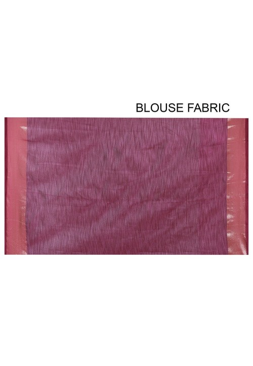 Banarasi Cotton Silk Saree in Pink 6