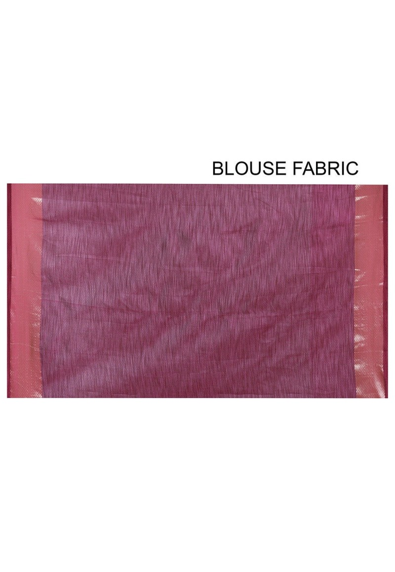 Banarasi Cotton Silk Saree in Pink 3