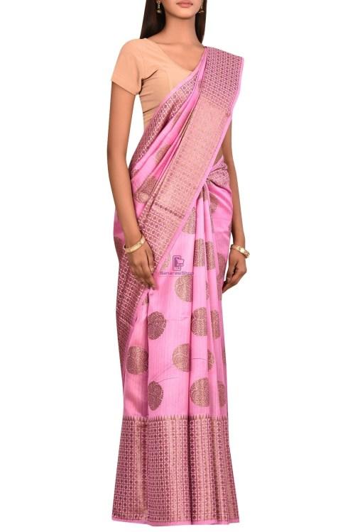 Pure Woven Banarasi Dupion Silk Saree with Unstitched Blouse Fabric 6