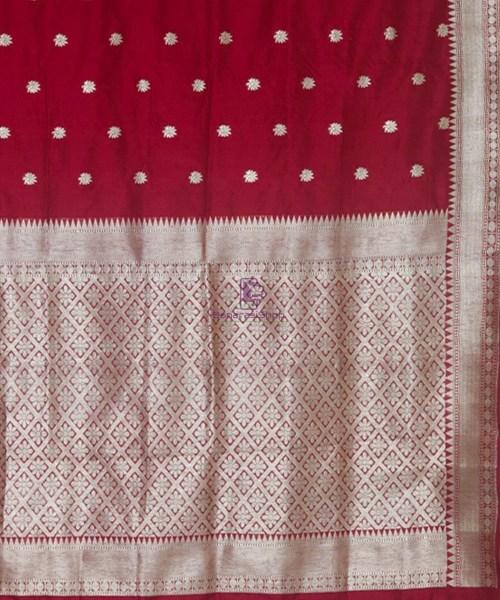 Banarasi Pure Katan Silk Handloom Maroon Saree 6