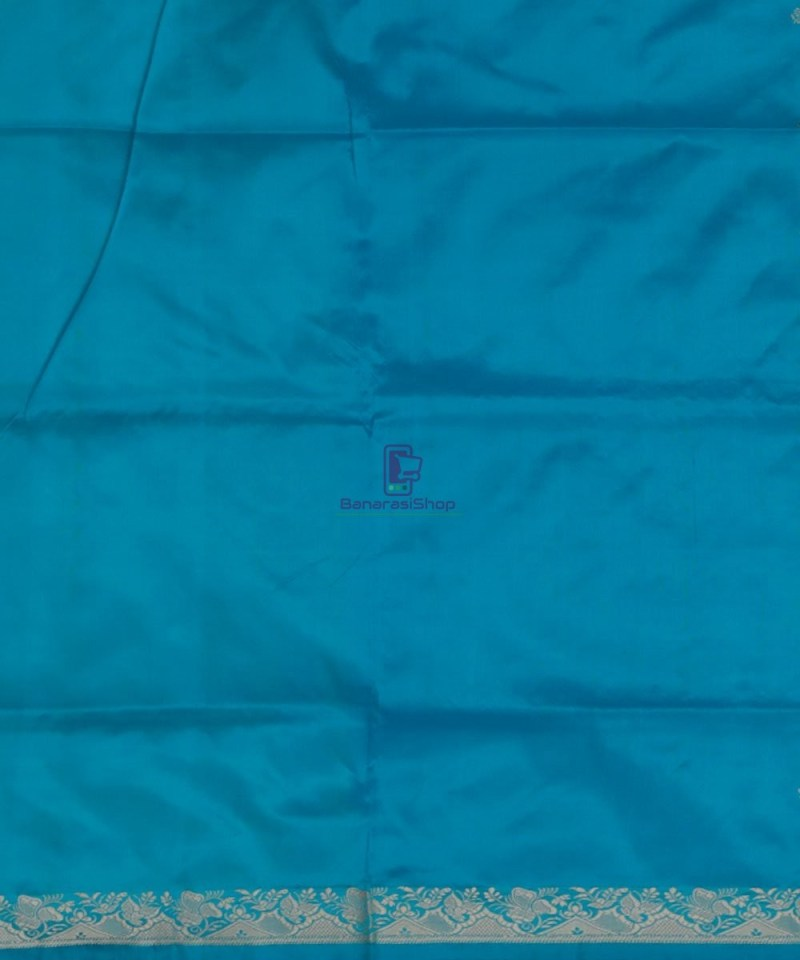 Banarasi Pure Katan Silk Handloom Sky Blue Saree 4