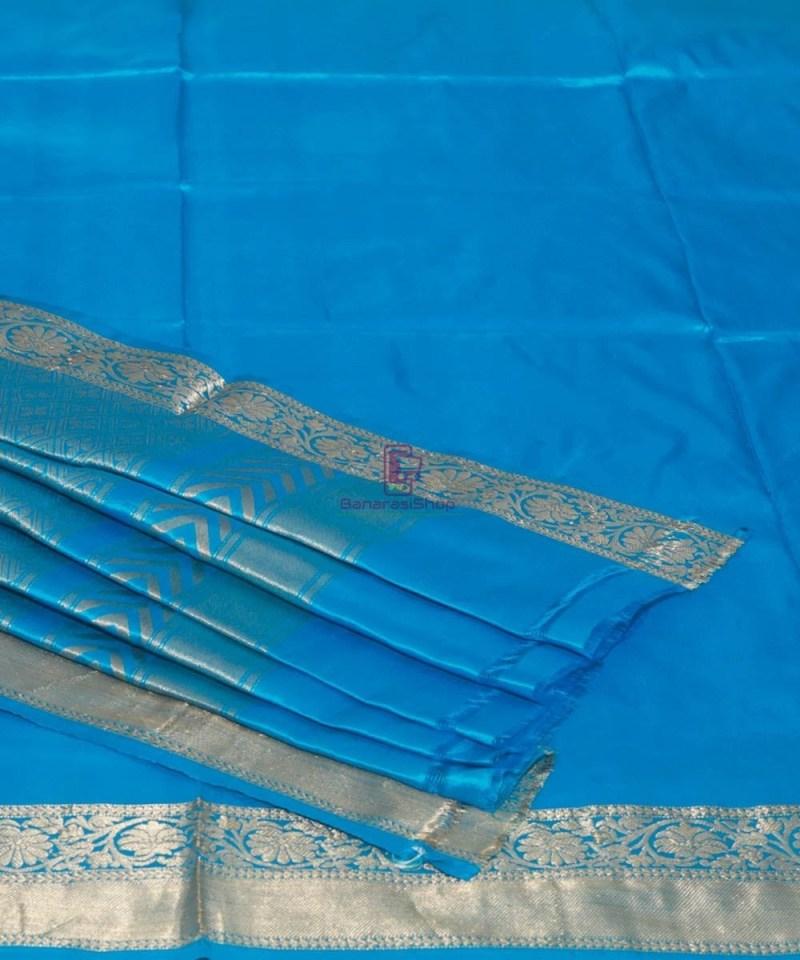 Banarasi Pure Katan Silk Handloom Sky Blue Saree 1