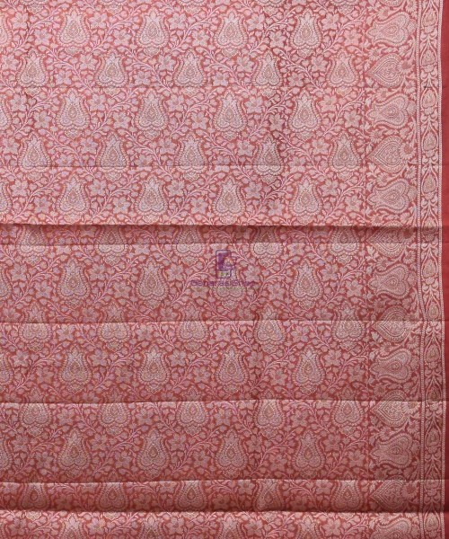 Woven Pure Tussar Silk Banarasi Saree in Cream 6
