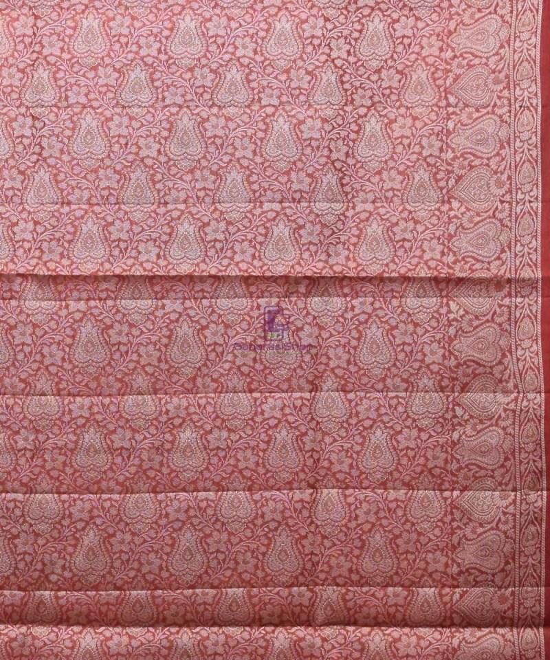 Woven Pure Tussar Silk Banarasi Saree in Cream 3