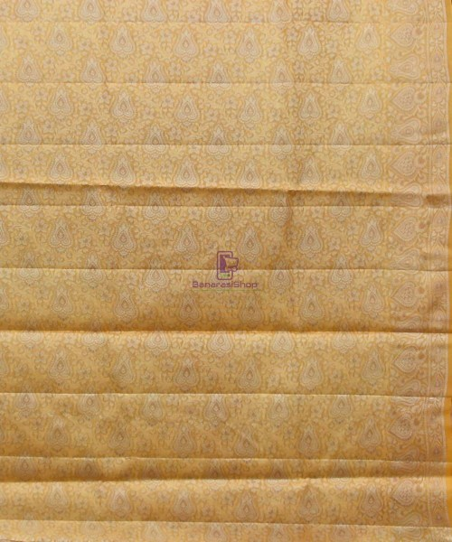 Woven Pure Tussar Silk Banarasi Saree in Dark Mauve 7