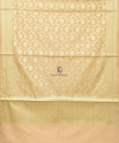 Woven Banarasi Art Silk Dupatta in Beige 3