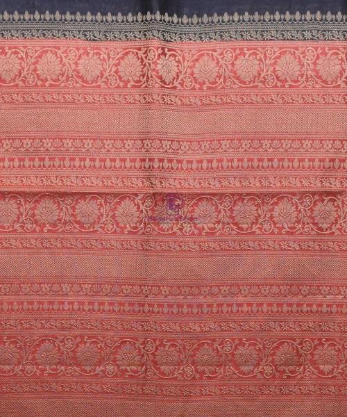 Woven Pure Muga Silk Banarasi Saree in Black 6