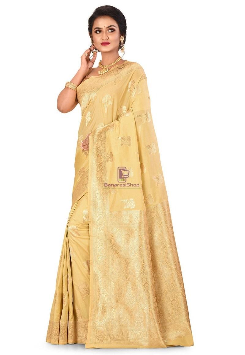 Banarasi Saree in Beige 1
