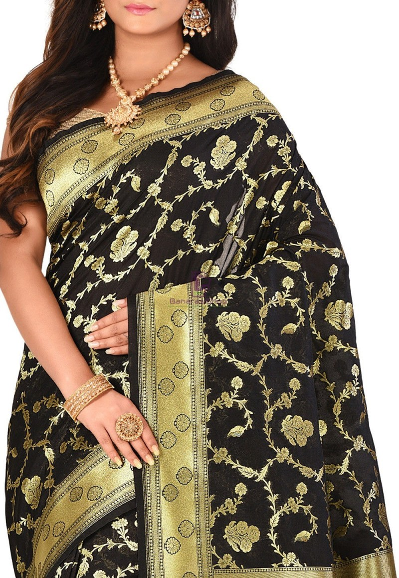 Banarasi Saree in Black 2