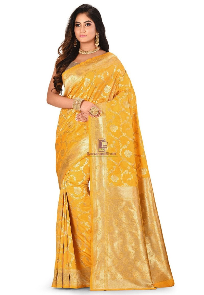 Banarasi Saree in Mustard 1