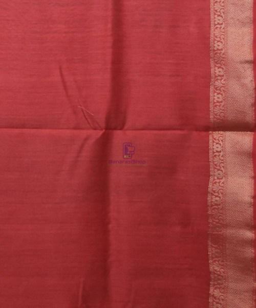 Woven Pure Muga Silk Banarasi Saree in Green 7