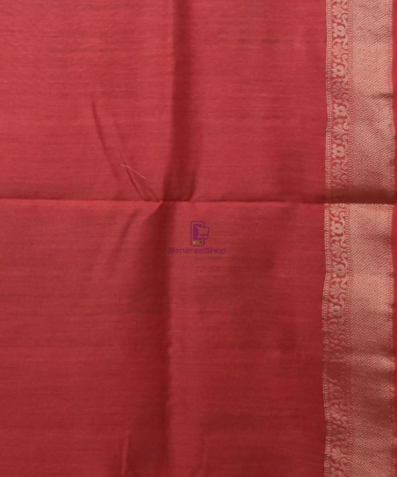Woven Pure Muga Silk Banarasi Saree in Green 4