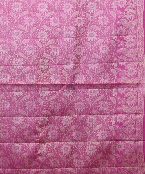 Woven Pure Tussar Silk Banarasi Saree in Royal Blue 6
