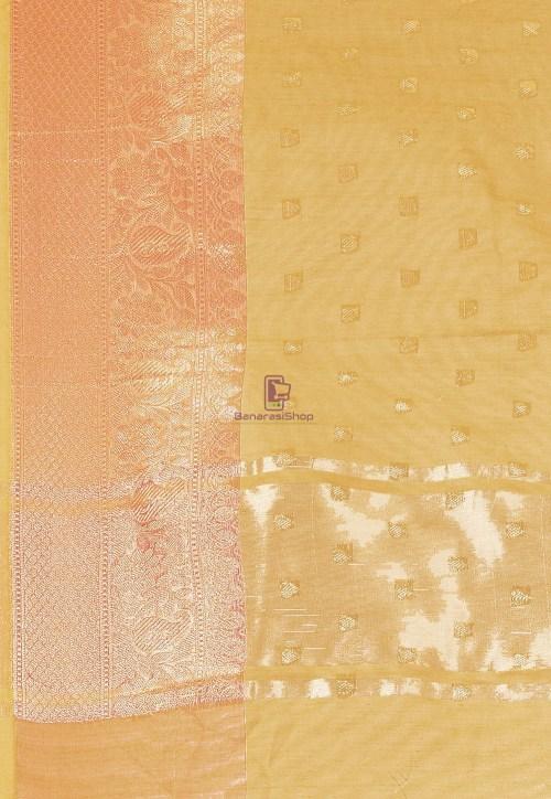 Woven Cotton Silk Saree in Mustard 6
