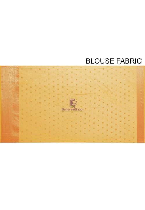Woven Cotton Silk Saree in Mustard 7
