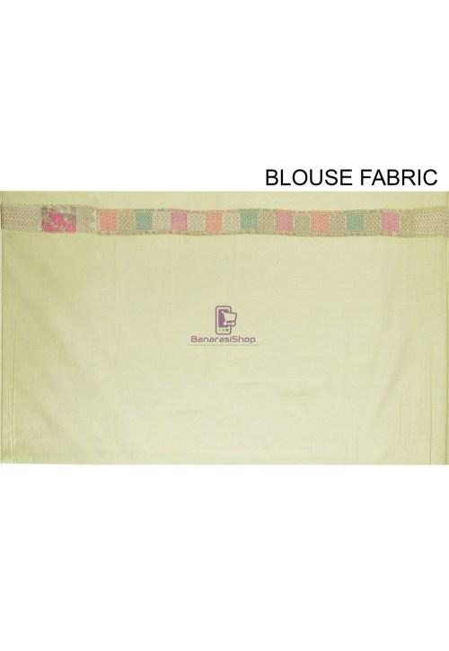 Woven Cotton Silk Saree in Pastel Green 7