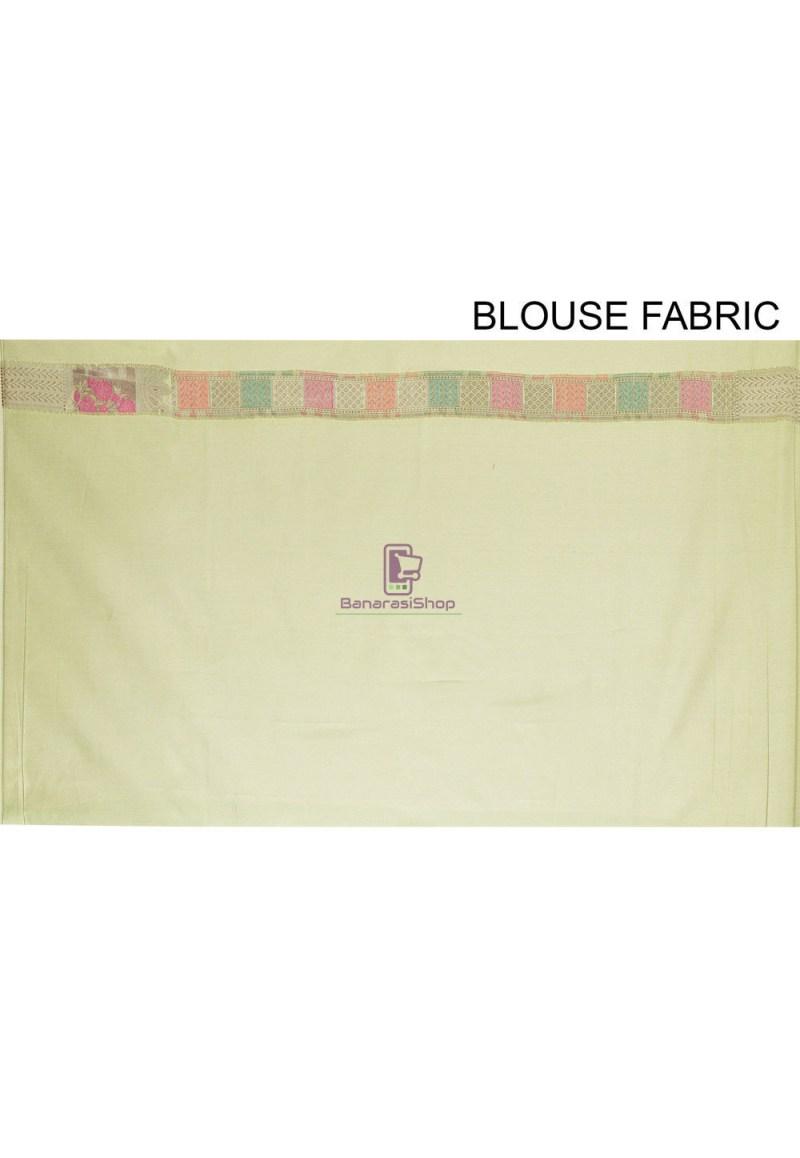 Woven Cotton Silk Saree in Pastel Green 4
