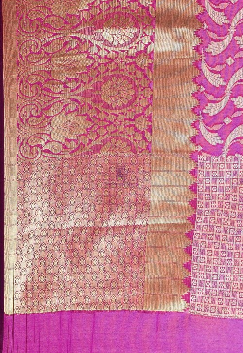 Woven Cotton Silk Saree in Purple 6