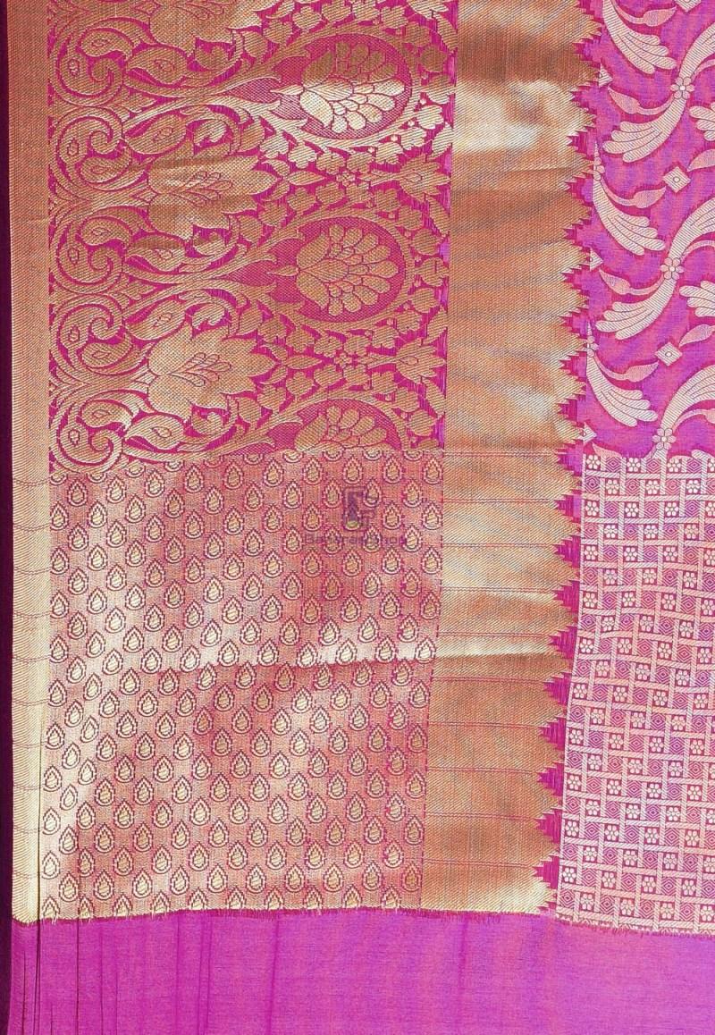 Woven Cotton Silk Saree in Purple 3