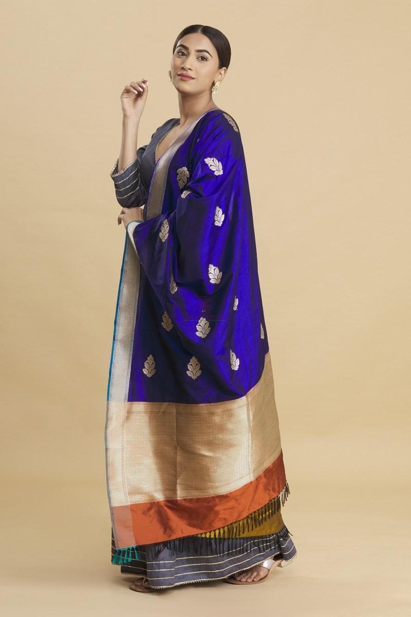 Banarasi Handloom Katan Silk Dupatta 1