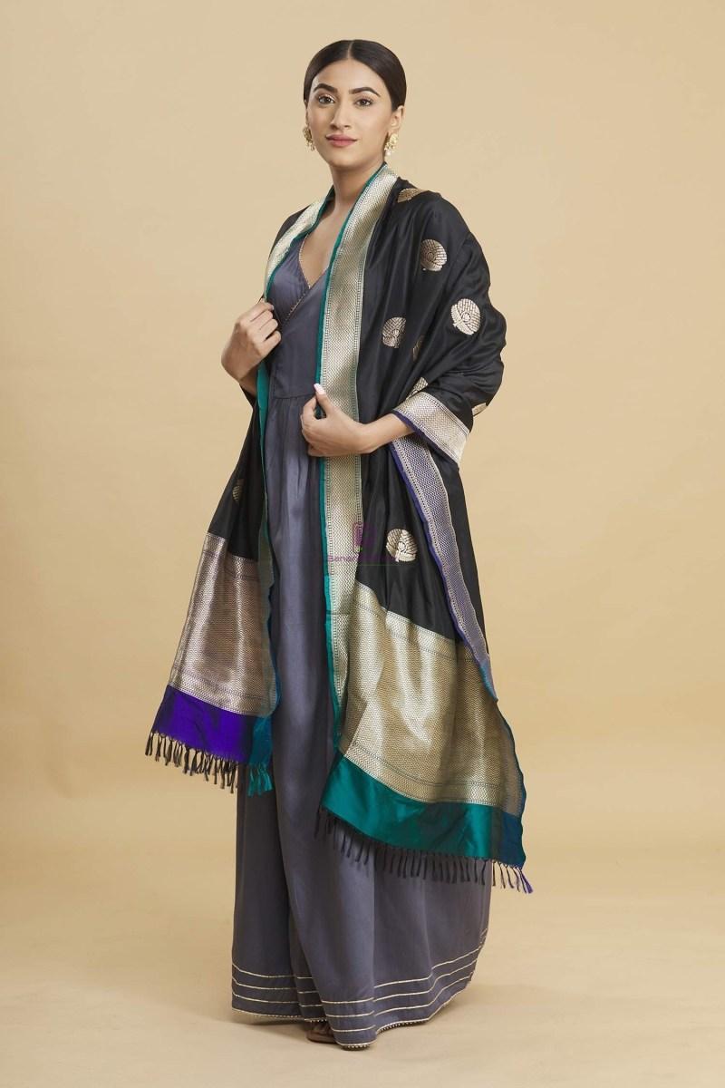 Banarasi Handloom Katan Silk Dupatta 3