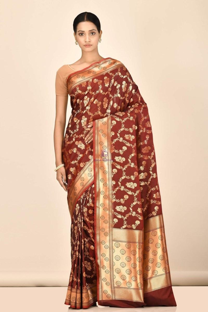 Banarasi Silk Saree with Running Blouse Fabric 1