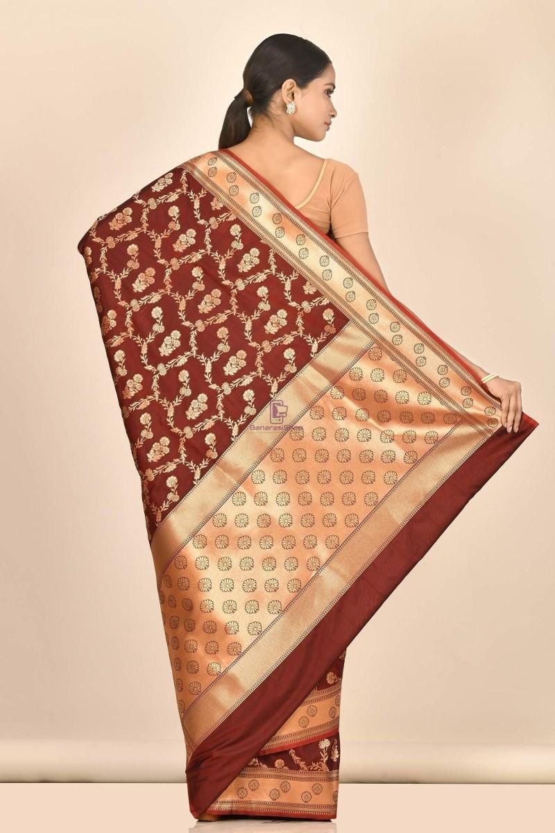 Banarasi Silk Saree with Running Blouse Fabric 3