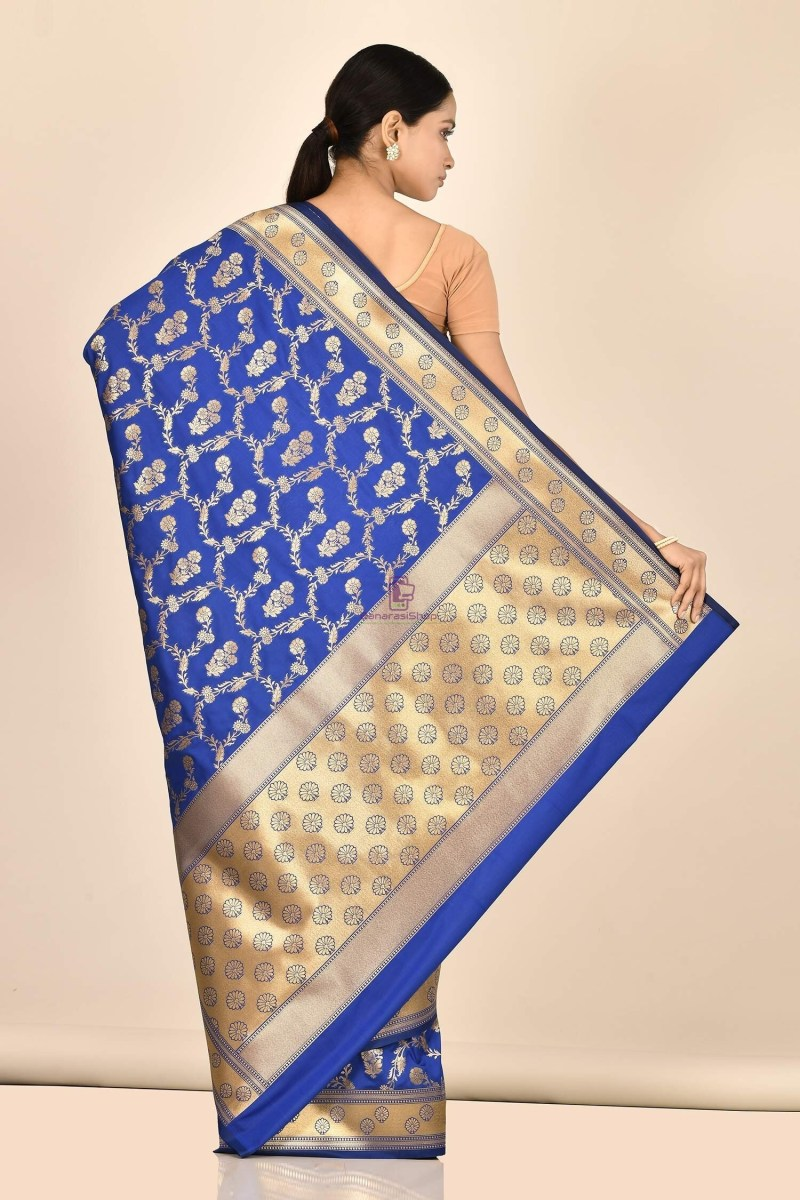 Banarasi Silk Saree with Running Blouse Fabric 3